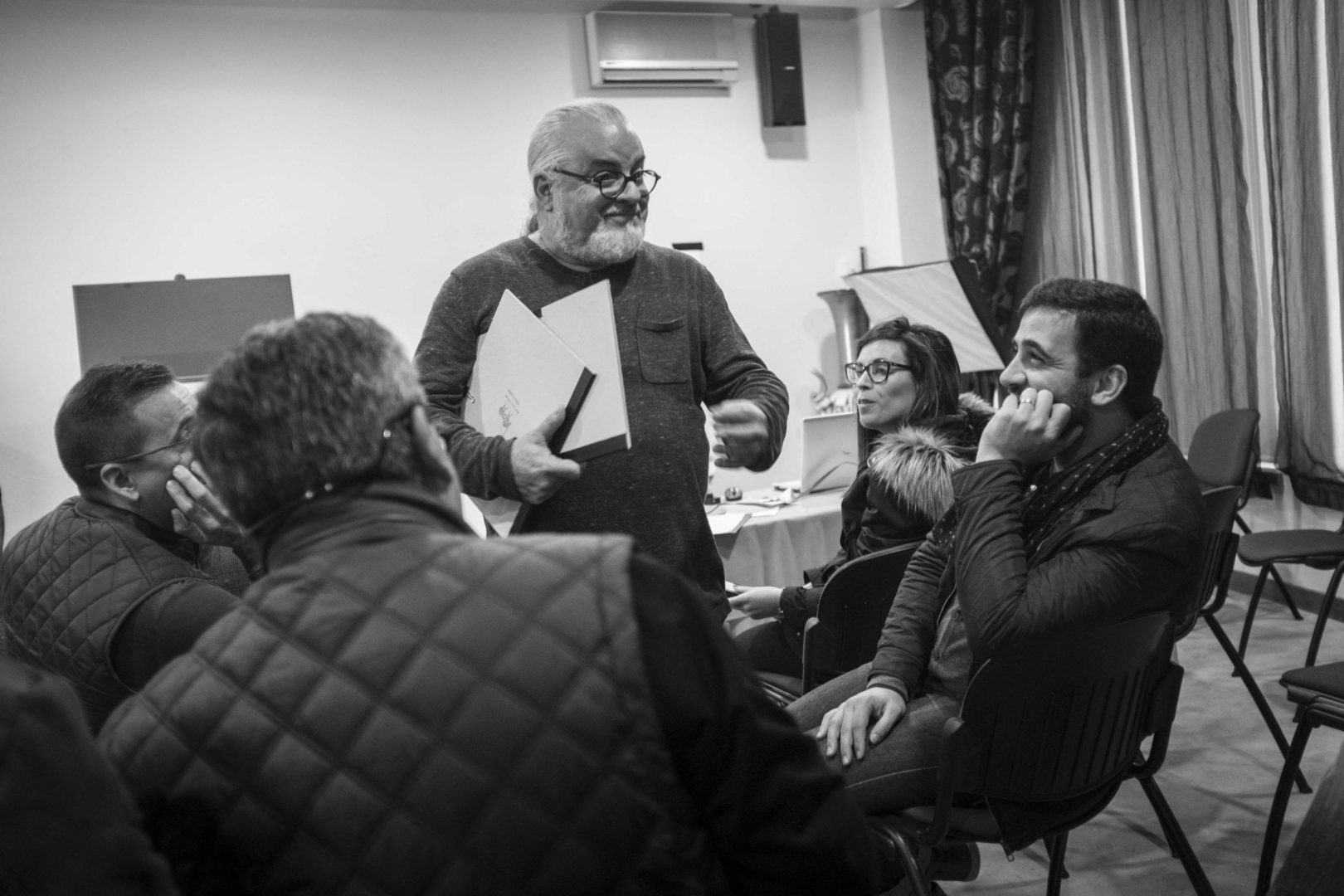 Rui Costa Freire listening to the wise words of the jury panel about his submitted photos.