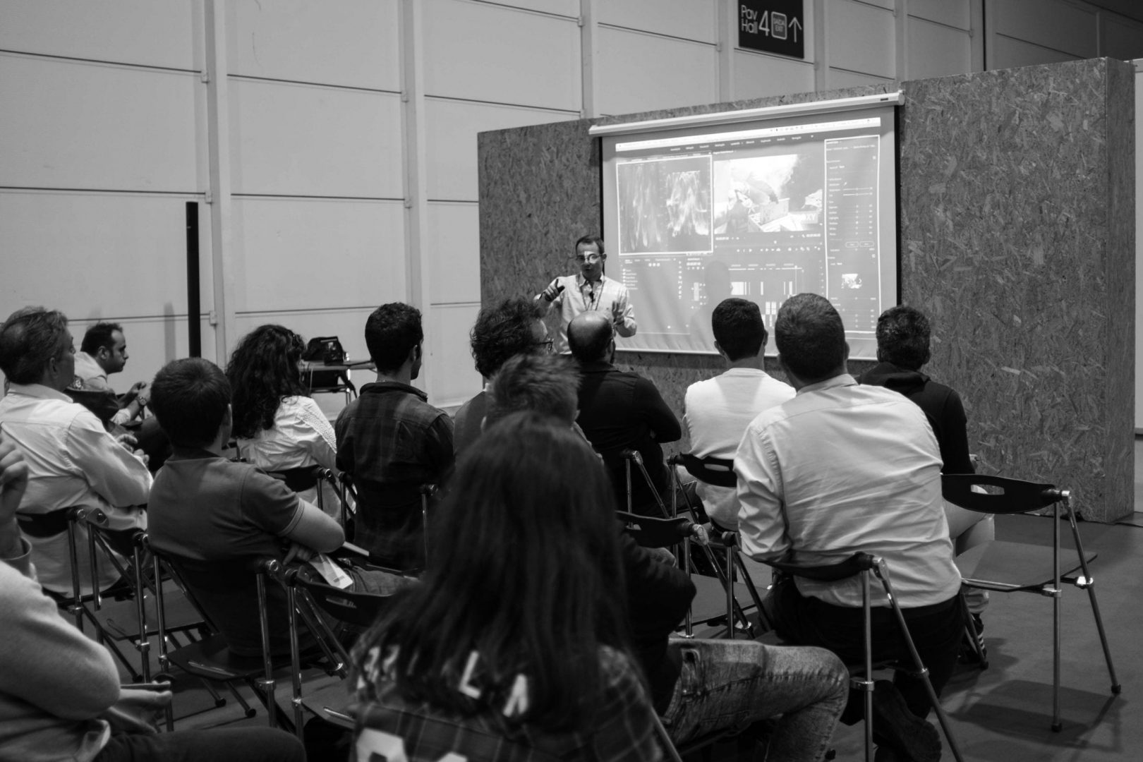 "Eduardo Angel presenting ""The Most Essential Video Gear for Small Crews"""