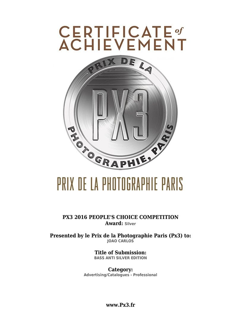 Px3 2016 People's choice silver award