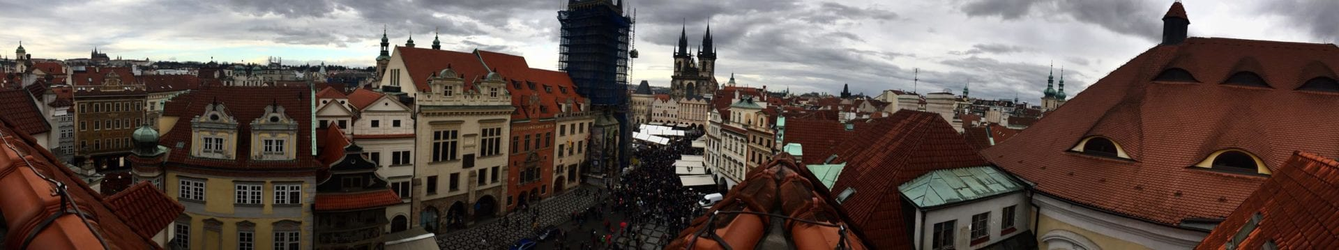 Rooftop panorama of the amazing city of Prague.
