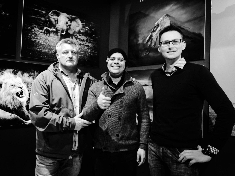 Me, Peter Delanay and Saulius Damulevicius.