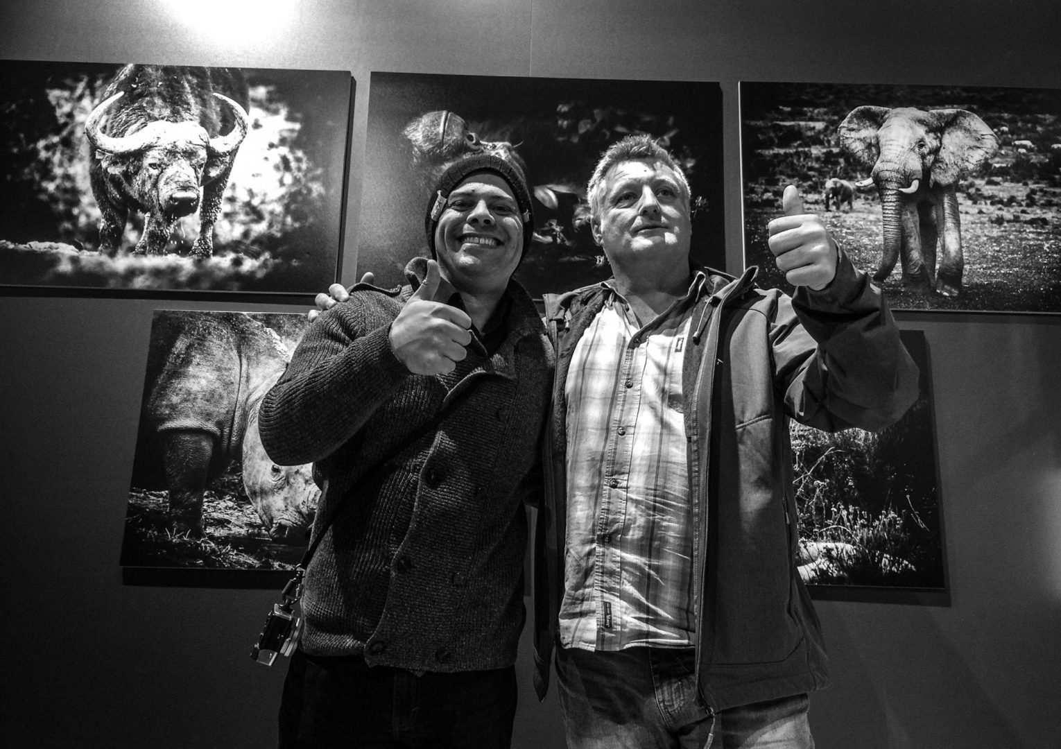 Me and Peter Delanay at his exhibition wall.
