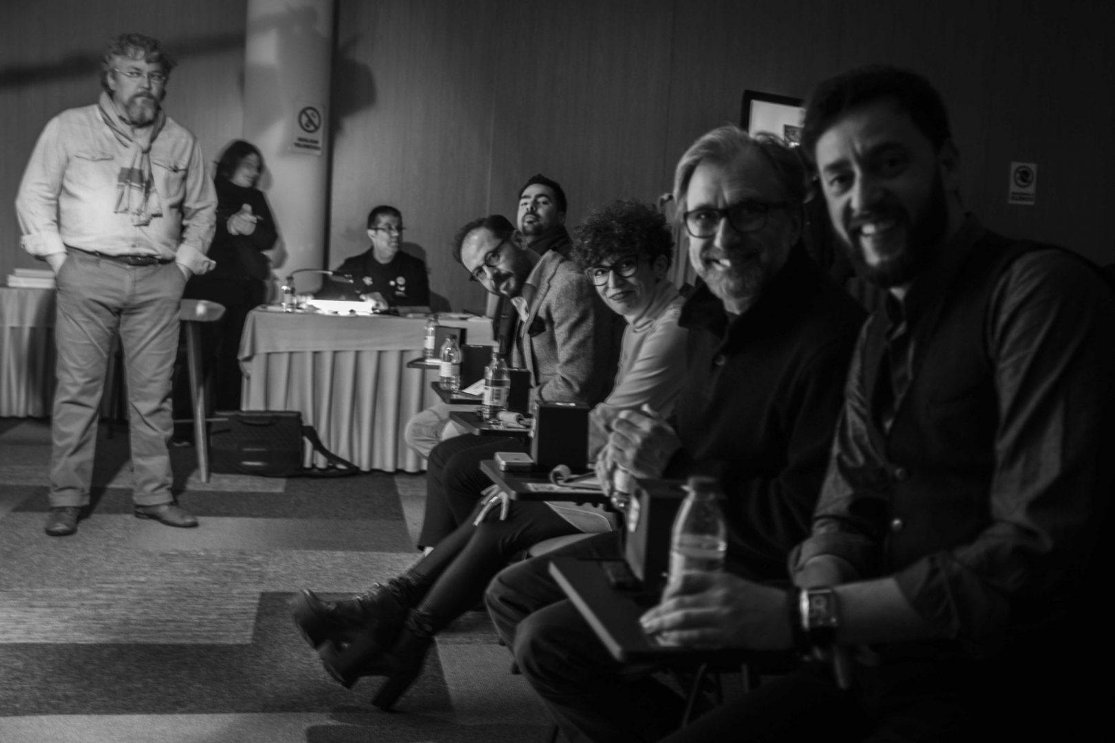 POV from the jury chair. In order: Roberto Lengua, Andre Boto, Nelson Marques, Yolanda Purrinos, and Fernando Algarvio.