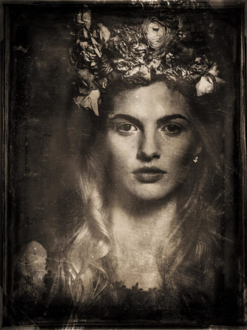 Another final photo of this workshop, this with a wet-plate look. If you want to know how this look was achieved, you can check my tutorial here.