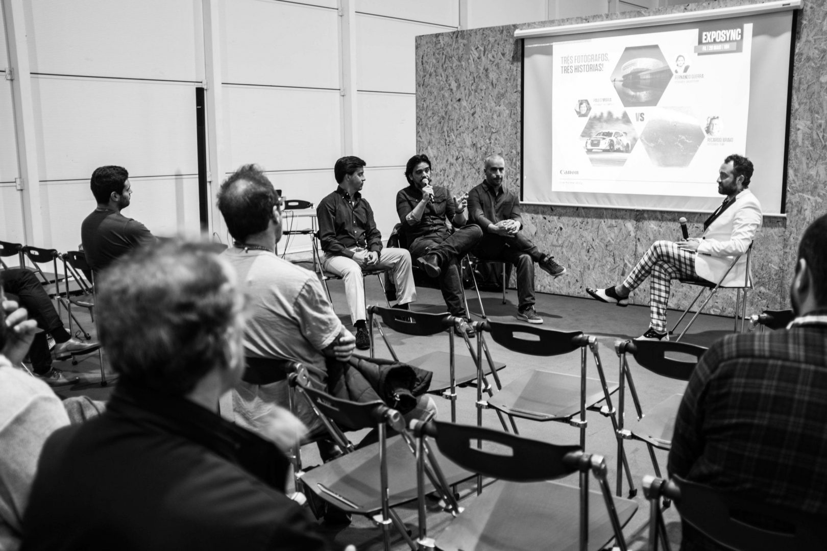 Paulo Maria, Fernando Guerra and Ricardo Bravo debating at Expo Sync