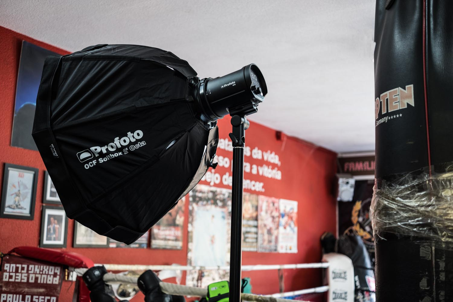 The B10 with a Profoto OCF 2' Octabox, provided by Innovafoto