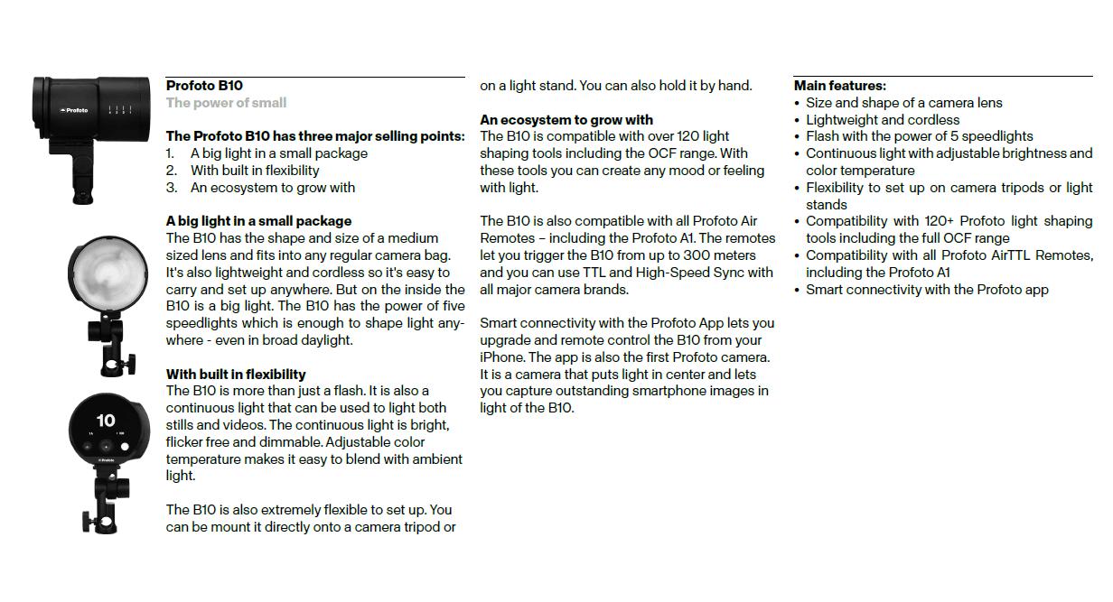 Tech sheet 1