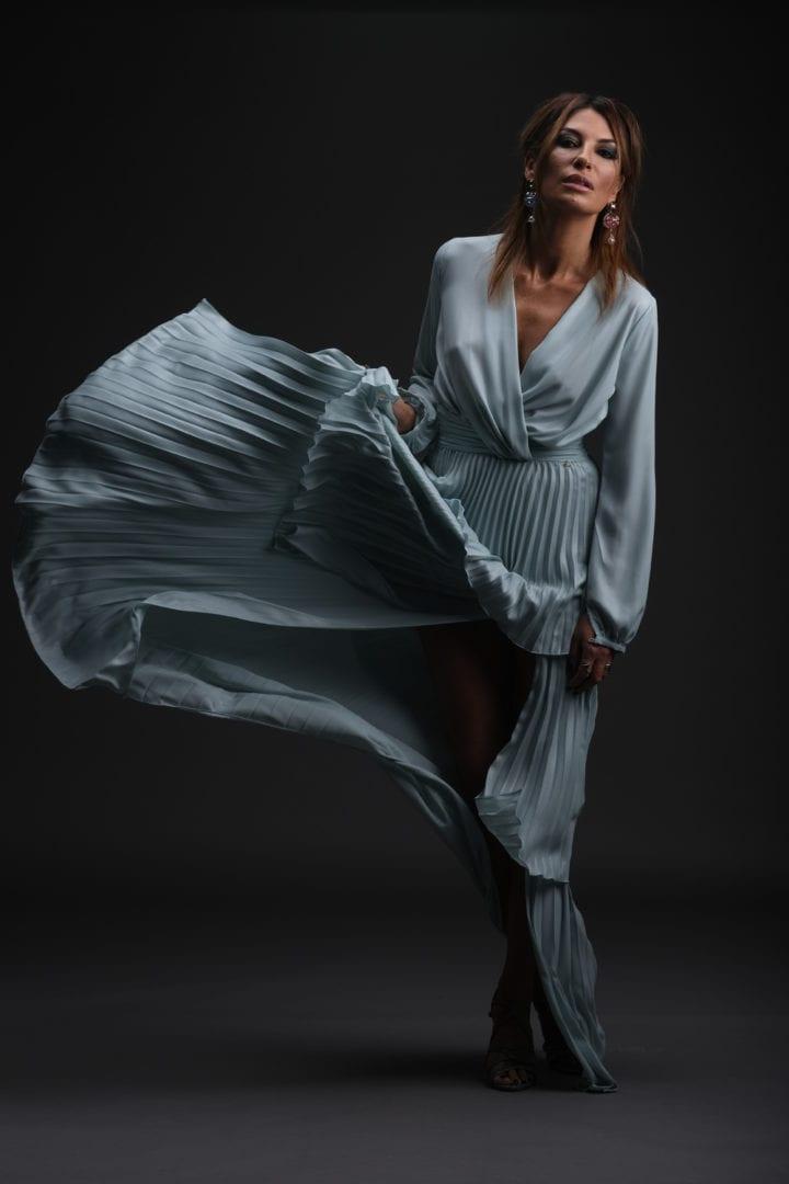 Raquel Prates Blue Dress 1