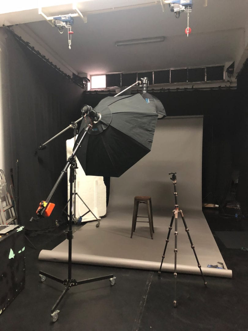 My studio is ready for the incoming photoshoot